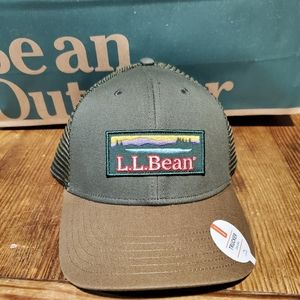 Ll bean trucker hat khaki green
